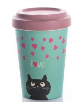 Coffee To Go Becher Bamboo Kitty Love Coffee Cups Coffee Coffee