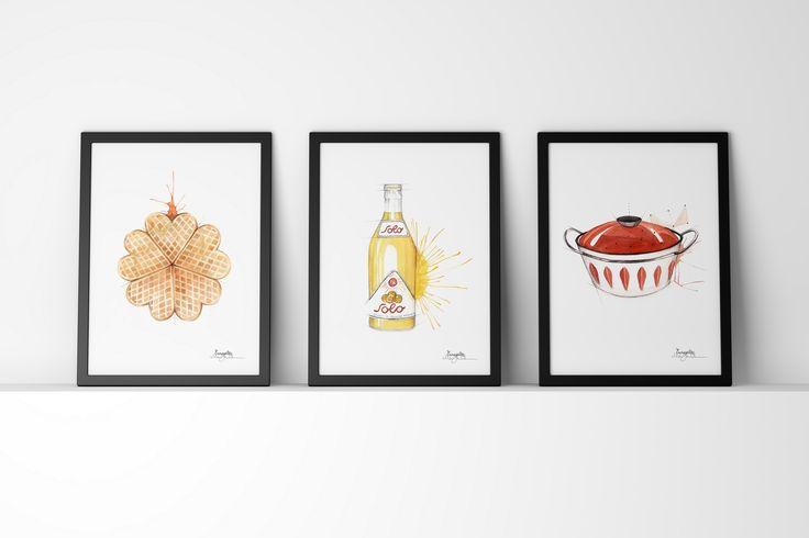 Norwegian brand by illustrator/artist Mona Stenseth Erlandsen.      www.emmeselle.no