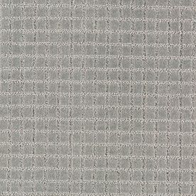 Mohawk Essentials Picture Perfect Mineral Grey Cut and Loop Indoor Carpet