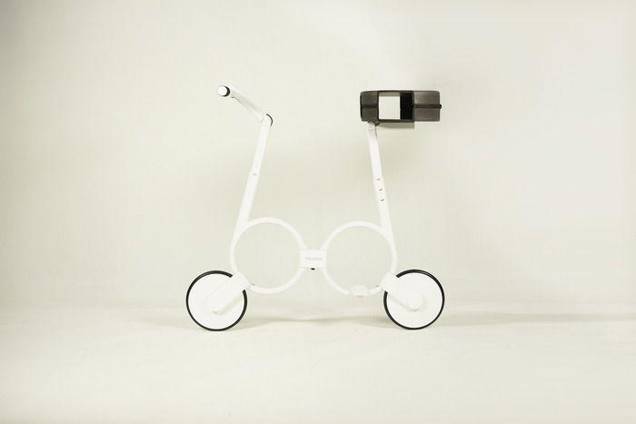 사진은 권력이다 :: 어께에 메고 다닐 수 있는 소형 접이식 전기 자전거 Impossible