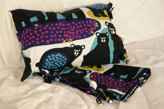 Childrens bedding Childrens duvet cover Bear by ScandinavianFabric