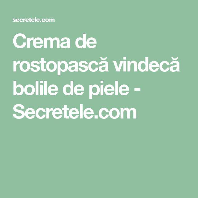 Crema de rostopască vindecă bolile de piele - Secretele.com