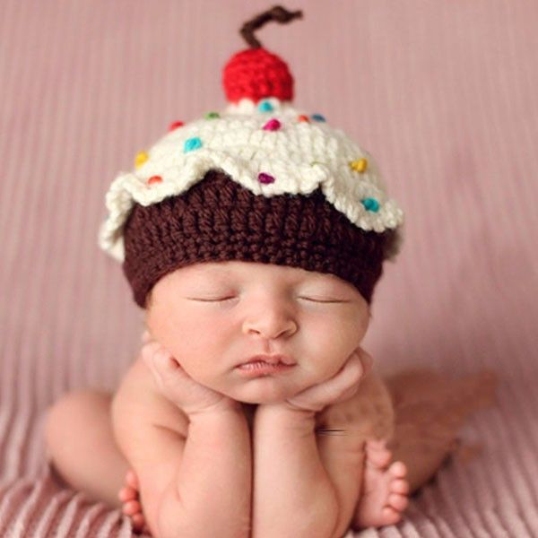 Cupcake birthday Hat cap winter Baby Photography Prop outfit halloween Costume Newborn Infant (newborn to 12 months)