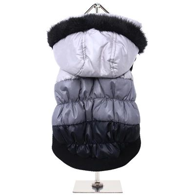 Urban Pup Chihuahua Puppy Chihuahua or Small Dog Black Grey and Silver Padded Parka Style Coat   – My Chi and Me