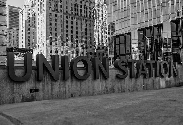 Union Station sign outside of the main station building in Toronto, where you get various trains across the city and further afield into the USA. Available in canvas, metal, acrylic,greetings card, etc etc. If you have any questions please contact me.