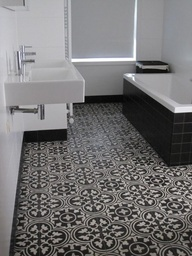 Bathroom tile floor out there tile or ordinary tile?