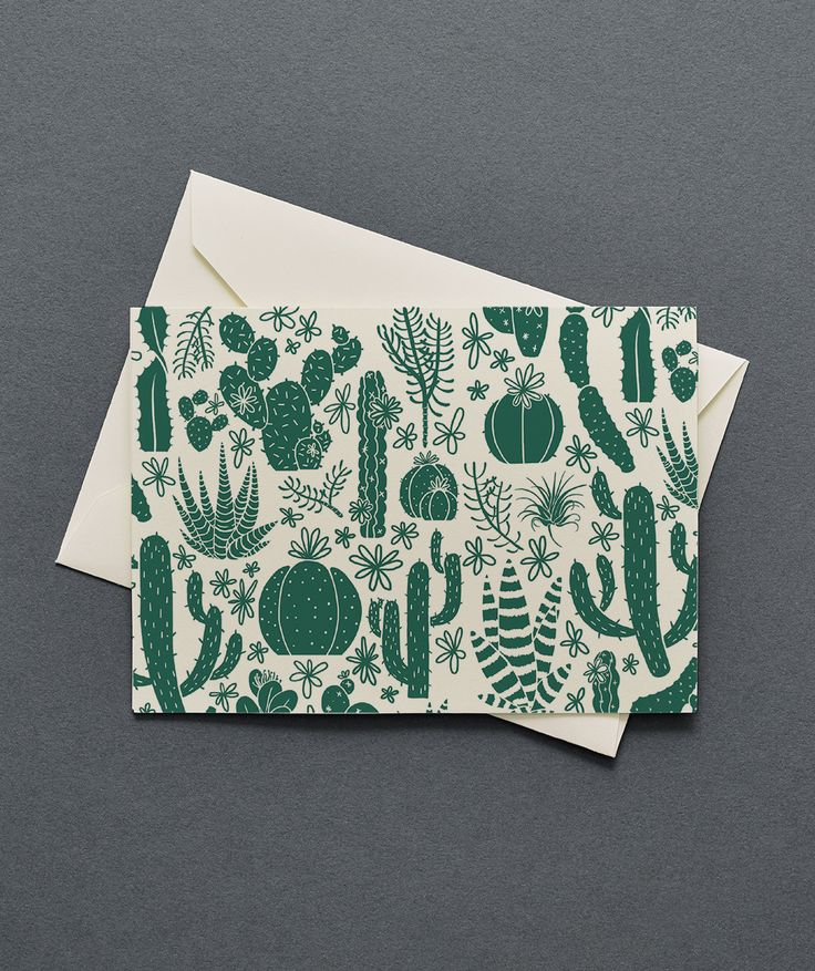 Say whatever your heart desires with these blank inside cacti cards. Each box comes with 12 folded notes and matching envelopes and they are printed with eco-friendly inks. 100% post-consumer recycled