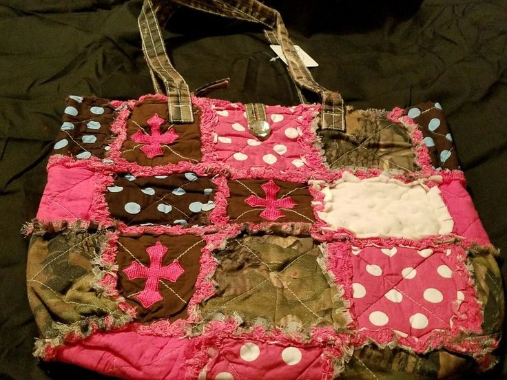 Nwt Pink/white camo polka dot cross diaper bag purse many options | Baby, Diapering, Diaper Bags | eBay!