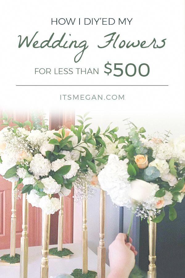 How I Diy Ed My Wedding Flowers For Less Than 500 It S Megan Lifestyle Blog Wedding F Unique Wedding Flowers Flower Bouquet Wedding Budget Wedding Flowers