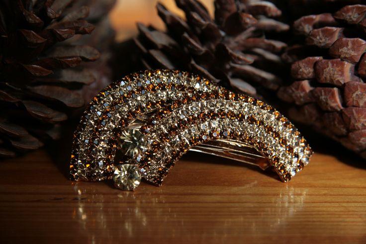 Accessorio per capelli cristallo, Clip capelli strass, Clip capelli cristallo, Hair clip crystal, Fermacapelli strass, Jewel hair clip