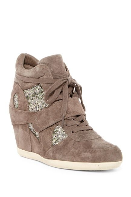 Image of Ash Bowie Glitter Wedge Sneaker