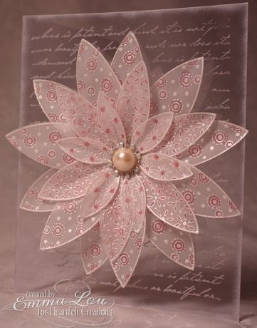 346 best handmade flowers images on pinterest accessories button vellum flower card vellum on acetate beautiful mightylinksfo
