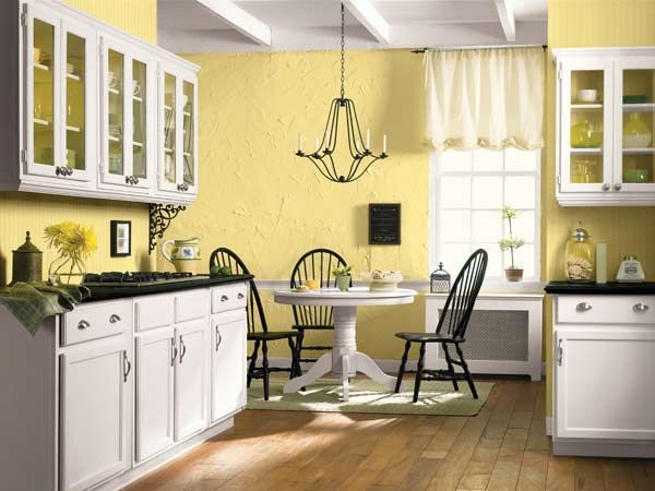 Color of the month march 2015 custard yellow radiators Best white paint for kitchen cabinets behr