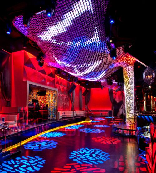 {Vanity Nightclub Las Vegas} That is the freakin dance floor! Includes cyclone chandelier of ...