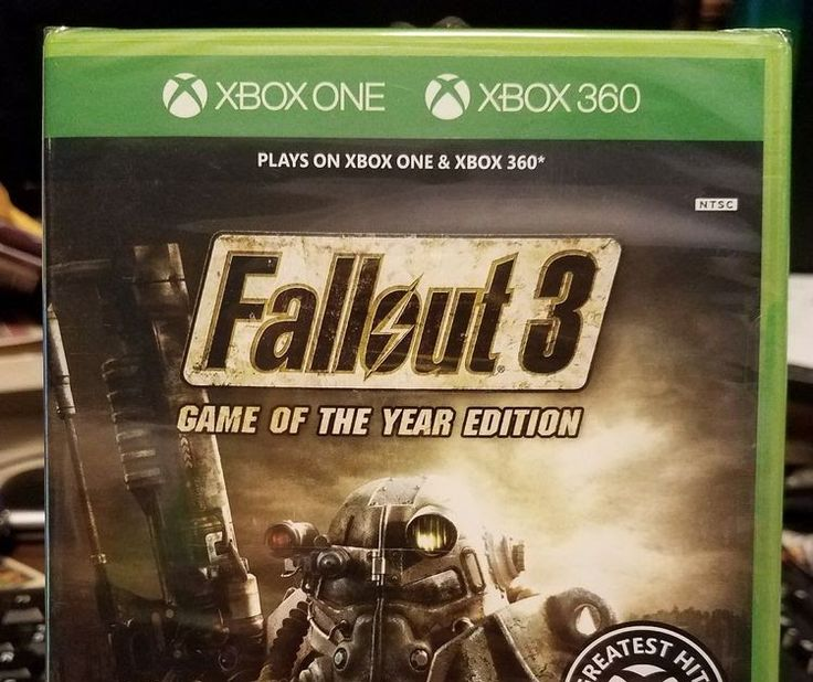 New  Fallout 3 -- Game of the Year Edition (Xbox One & Xbox 360 2009)