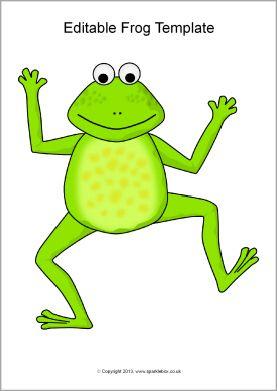 Editable frog templates (SB9302) - SparkleBox