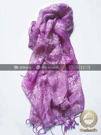 Selendang Batik Murah Grosir Warna Ungu | #Indonesia #Batik #Scarves Shawl Wholesale http://thebatik.co.id/syal-selendang-batik/