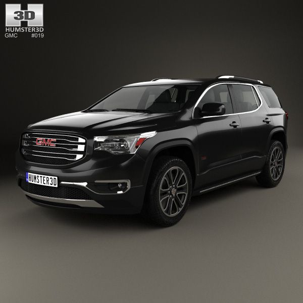 GMC Acadia 2017 3d model from Humster3D.com.