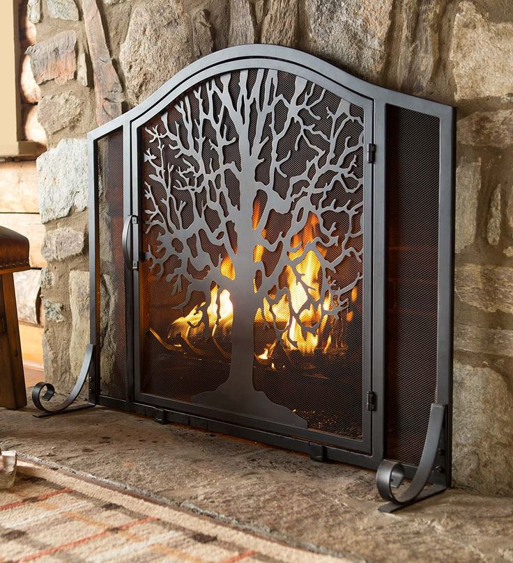 Tree of Life Fire Screen with Door  The symbolizes the interconnection Best 25 Fireplace screens ideas on Pinterest Wrought iron