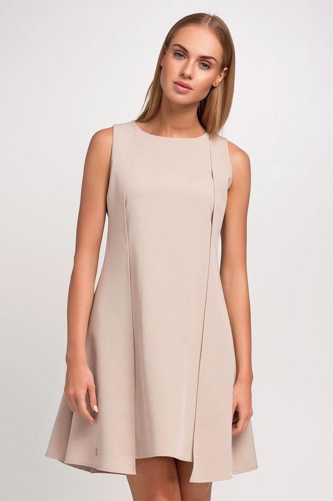 Sweet Beige Mini Dress