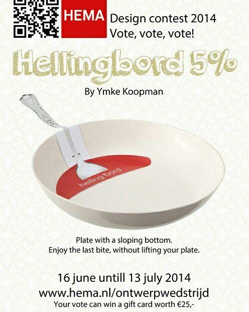 Hellingbord HEMA ontwerpwedstrijd 2014 poster publieksprijs