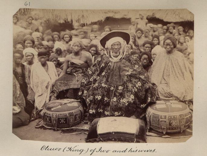 The Oluwo of Iwo, Osun State, Nigeria. Yoruba king, 1890s. From the National Archive UK CO 10-69-80-31