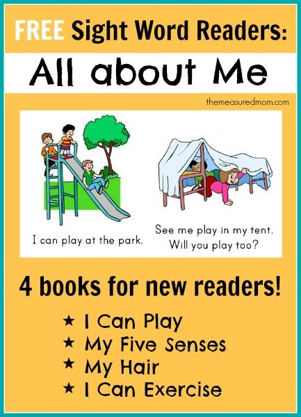 free sight word readers all about me the measured mom