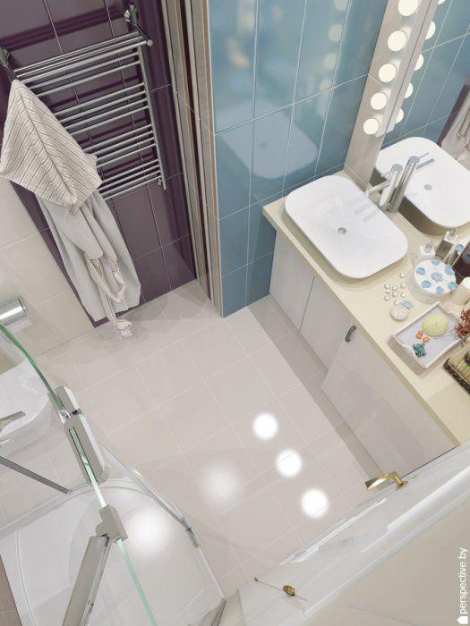 White and blue bathroom / towel warmer / Aleluia Ceramicas детская ванная!
