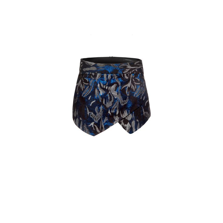 Naughty Dog #FW1415 jacquard #shorts with lurex effect and superimposed panels on the front. Invisible zipper on the side.