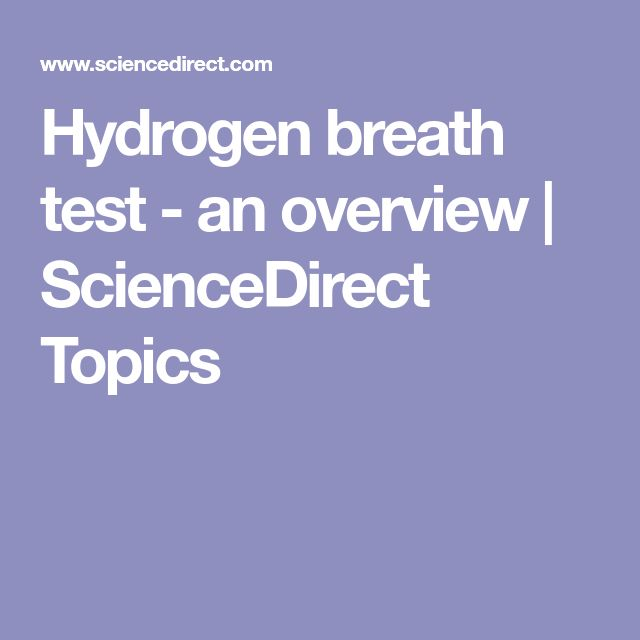 Hydrogen breath test - an overview | ScienceDirect Topics