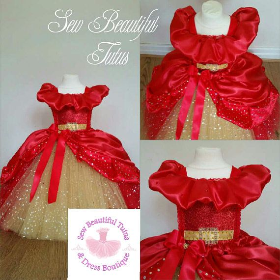GIRLS 50s VINTAGE STYLE RED SHIMMERY LACE DIAMONTE TRIM PRINCESS PARTY DRESS