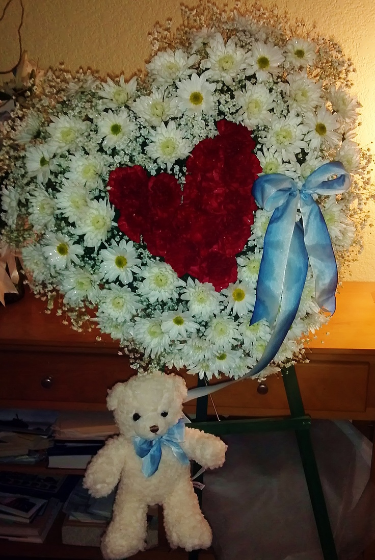 42 best oasis foam arrangements images on pinterest funeral fantasy flowers more child sympathy tribute babys breath mums daisy pompons dhlflorist Gallery