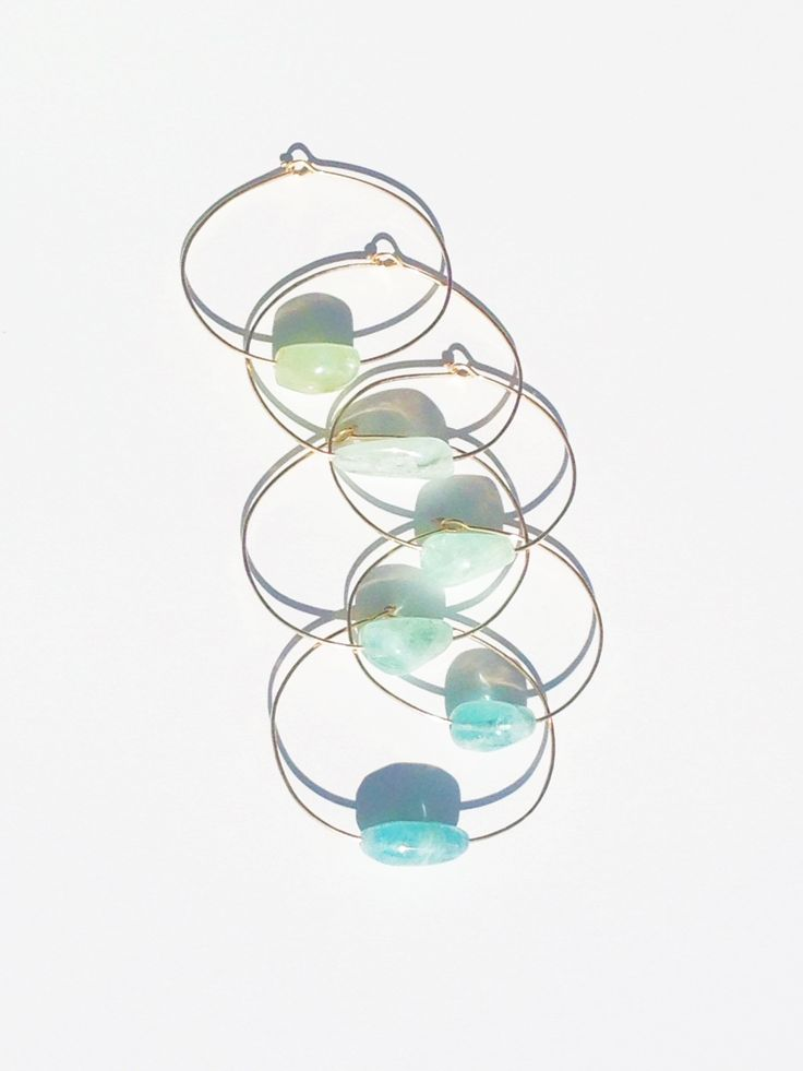Inspired by the ocean... Mary MacGill Aquamarine Cuffs #marymacgill #aquamarine