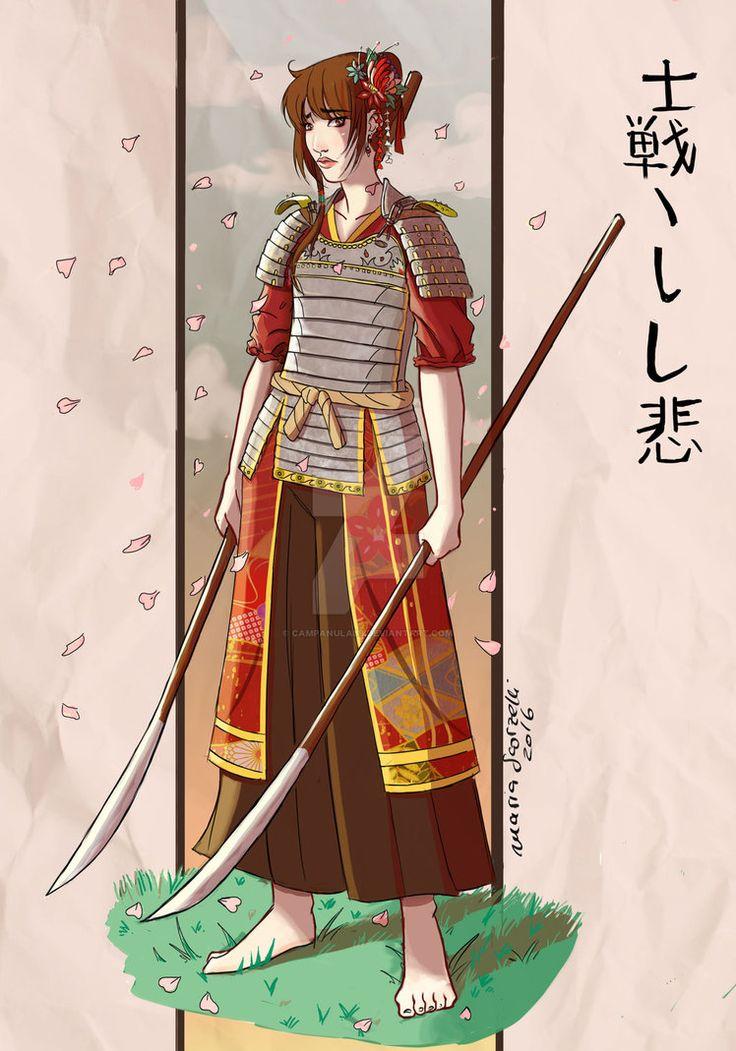 Samurai Girl by Campanula89.deviantart.com on @DeviantArt