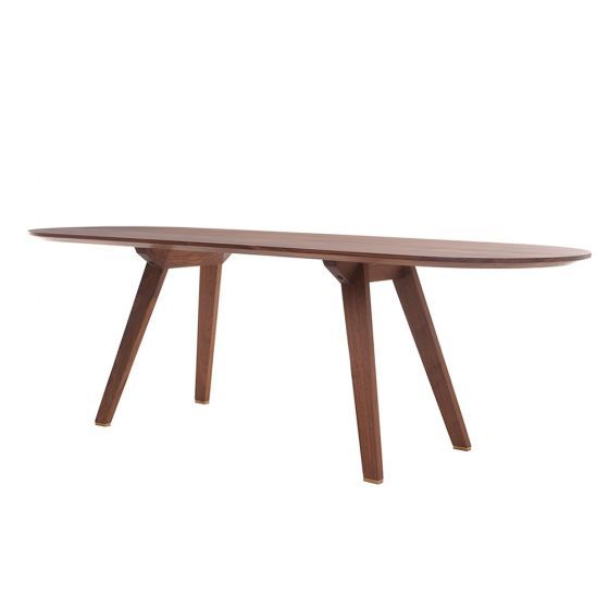 TOGETHER FIXED TABLE - STUDIOILSE at Spence & Lyda #spenceandlyda #studioilse #australia #sydney #table #black walnut #whiteoak  #dining #design