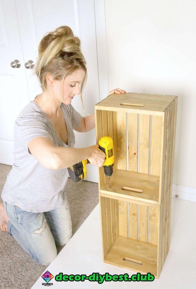 Diy Mobel Diy Mobel Wooden Crate Shelves Wood Crate Shelves Diy Wooden Crate