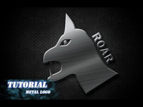 Photoshop tutorial create metal logo