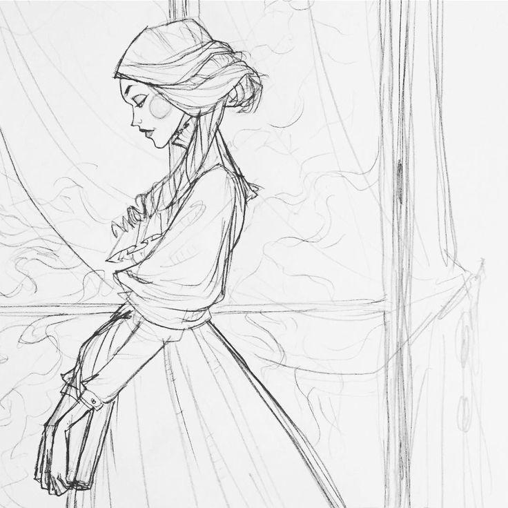 Finally got back to my #Dracula audiobook, so I sketched Mina Harker (the real hero of the novel imo)