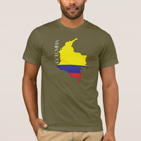 Colombia Flag-Map Shirt - click to get yours right now!