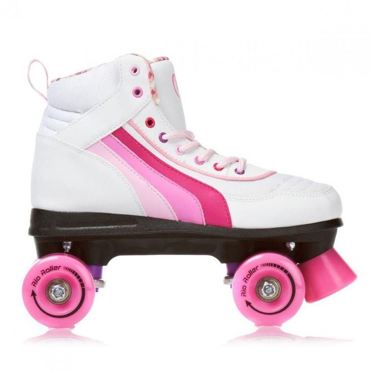 RIO Roller Quad PURE Blanc/rose (Grandes pointures) Rollers quad