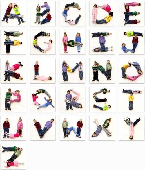 Fer amb els xiquets les lletres de l'abecedari.