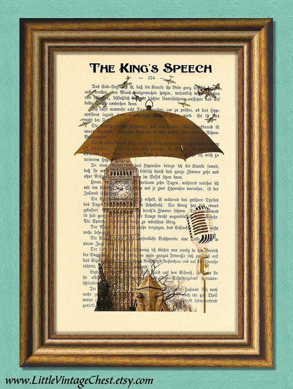 The KING'S SPEECH -British Spirit- King George VI by littlevintagechest, $7.99
