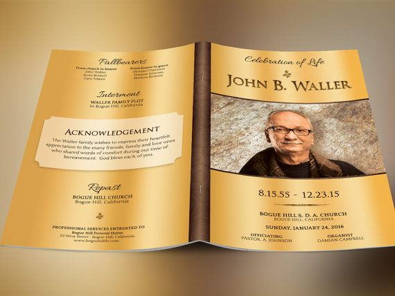 The 25+ best Funeral program template free ideas on Pinterest - memorial service template word