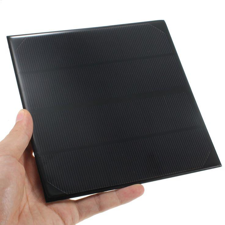 Kualitas tinggi 6 V 4.5 W 520 mAh modul Sel Monocrystalline silikon Panel Surya Mini Untuk Cahaya Baterai 165x165mm