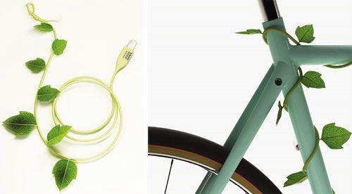 Vine and Leaf Bike Lock. Love!