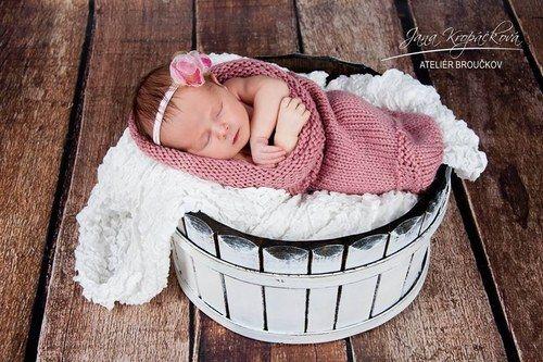 Pletený váček pro miminko