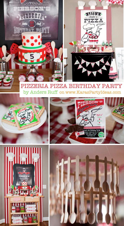 Little Chef Pizza Pizzeria Girl Boy Birthday Party Planning Ideas