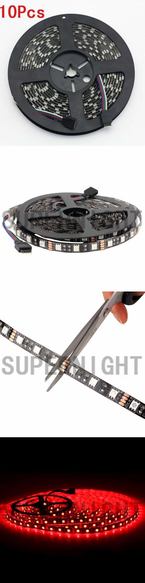 String Lights Fairy Lights 116022: 10Pcs Black Pcb 5M 300Leds Rgb 5050 Smd Flexible Led Strip Light Lamp Waterproof -> BUY IT NOW ONLY: $89.99 on eBay!