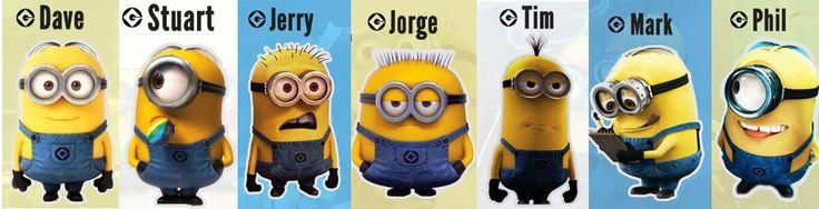 Dave, Stuart, Jerry, Jorge, Tim, Mark & Phil - Minions