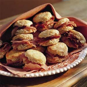 Country Ham Biscuits - I thought my family was kidding me when they wanted to have these.....all I could picture were biscuits with chopped ham in them. Actually, these are pretty good!